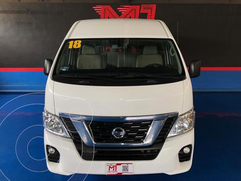 Nissan Urvan 15 Pas Amplia Aa Pack Seguridad usado (2018) color Blanco financiado en mensualidades(enganche $207,700 mensualidades desde $13,500)
