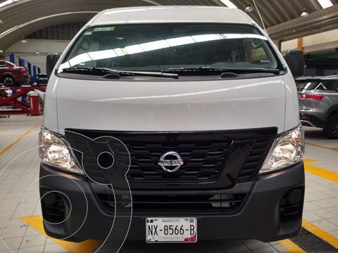 Nissan Urvan Panel Ventanas Amplia  usado (2021) color Blanco financiado en mensualidades(enganche $43,900)