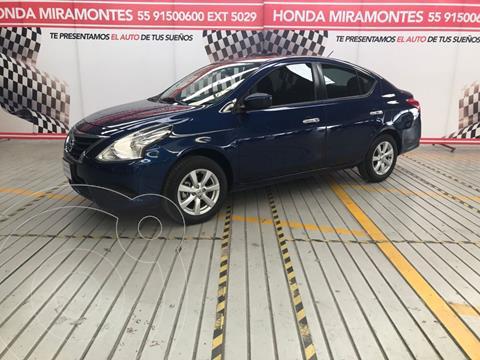 Nissan Versa Sense usado (2019) color Azul financiado en mensualidades(enganche $57,500 mensualidades desde $5,383)