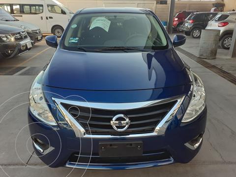 Nissan Versa Advance usado (2019) color Azul financiado en mensualidades(enganche $47,246 mensualidades desde $4,805)