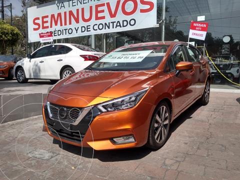 Nissan Versa Platinum Aut usado (2020) color Naranja precio $299,000