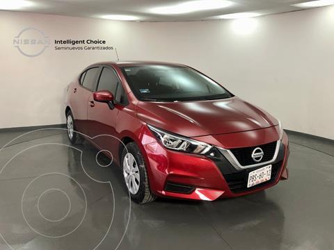 Nissan Versa Sense  usado (2021) color Rojo precio $265,000