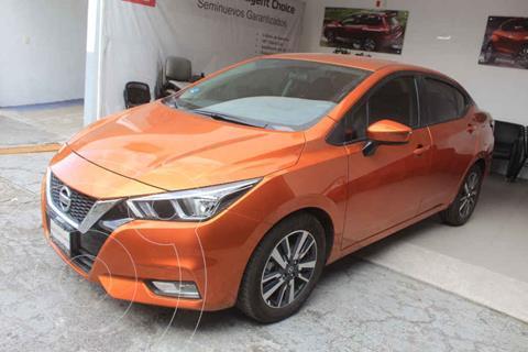 Nissan Versa Advance Aut usado (2020) color Naranja precio $299,000