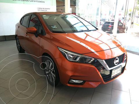 Nissan Versa Advance Aut usado (2020) color Naranja precio $270,000