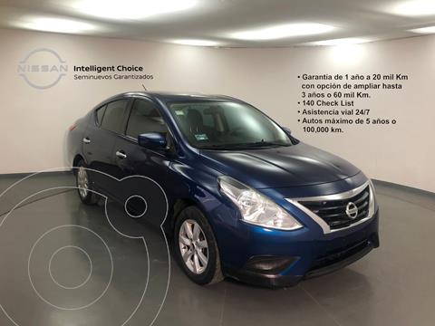Nissan Versa Sense Aut usado (2018) color Azul precio $190,000