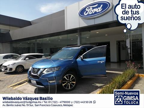 Nissan X-Trail Exclusive 2 Row usado (2018) color Azul Electrico precio $350,000