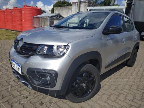 Renault Kwid Outsider usado (2020) color Gris Estrella precio $1.320.000