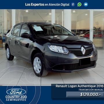 Renault Logan AUTENTIQUE usado (2016) color Gris precio $129,000