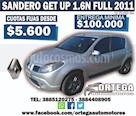 Foto venta Auto usado Renault Sandero 1.6 Get Up (2011) color Gris Claro precio $185.000