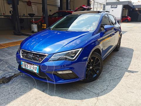 SEAT Leon FR 1.4T 150 HP usado (2018) color Azul Mediterraneo financiado en mensualidades(enganche $81,250 mensualidades desde $7,025)