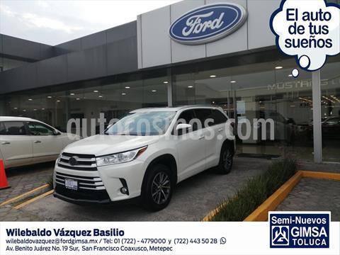 Toyota Highlander XLE usado (2017) color Blanco precio $399,000