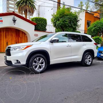 Toyota Highlander XLE usado (2015) color Blanco Perla precio $329,000