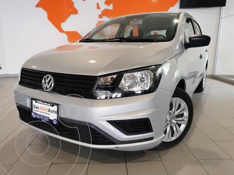 Volkswagen Gol Trendline usado (2020) color Plata financiado en mensualidades(enganche $55,728 mensualidades desde $5,143)