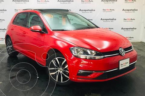 Volkswagen Golf Highline DSG usado (2019) color Rojo financiado en mensualidades(enganche $78,000 mensualidades desde $7,805)