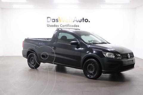 Volkswagen Saveiro Robust (Cabina Sencilla) A/A usado (2020) color Negro precio $230,000