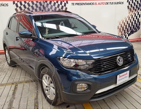 Volkswagen T-Cross Trendline Aut usado (2020) color Azul financiado en mensualidades(enganche $182,500 mensualidades desde $4,450)