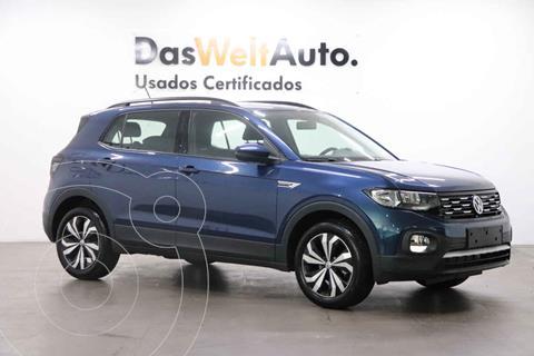 Volkswagen T-Cross Comfortline Aut usado (2021) color Azul precio $420,000