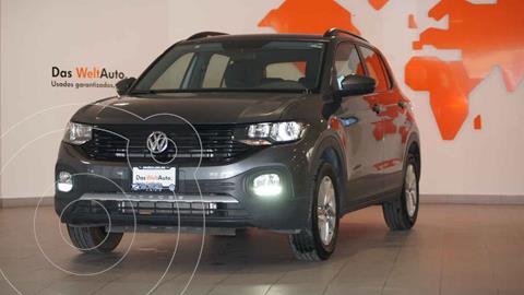 Volkswagen T-Cross Trendline Aut usado (2020) color Gris precio $349,500
