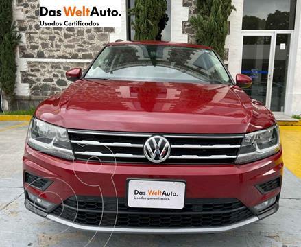 Volkswagen Tiguan Comfortline 5 Asientos Piel usado (2018) color Vino Tinto precio $426,000