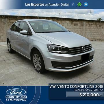 Volkswagen Vento Comfortline usado (2018) color Plata precio $210,000